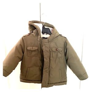 Olive green toddler jacket